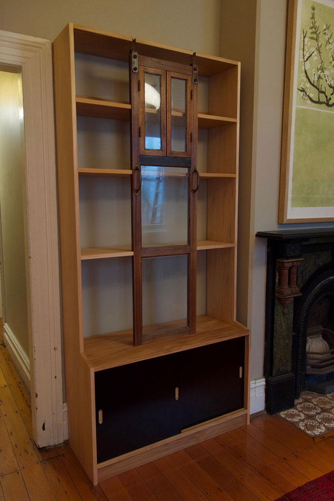 Ben's bookshelves and cabinet