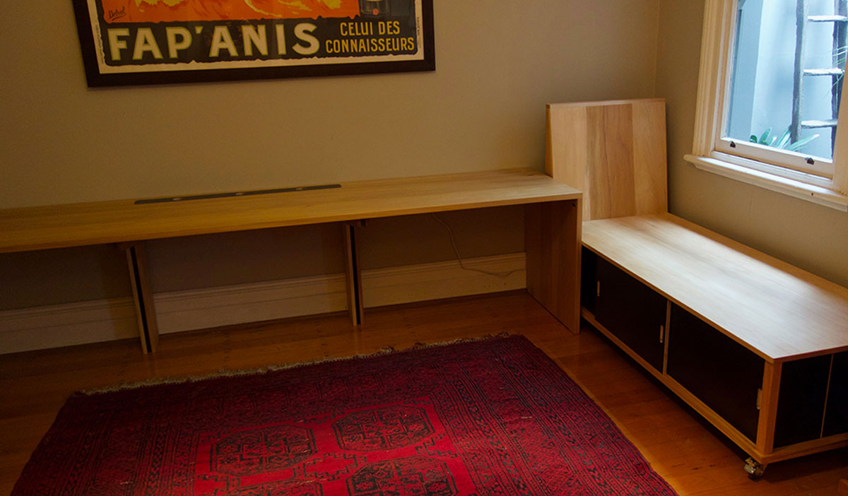 Ben's custom desk and daybed