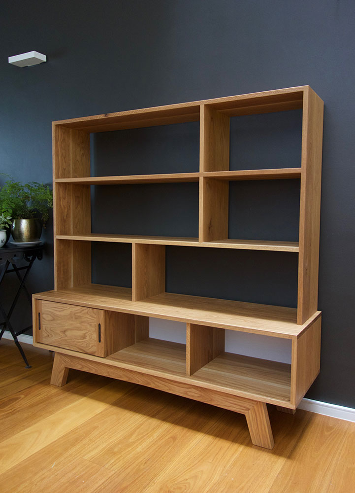 Jane's American oak cabinet and bookshelf combo