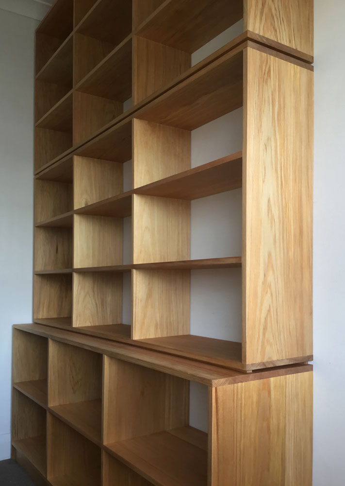 Custom shelves with shadowline detail