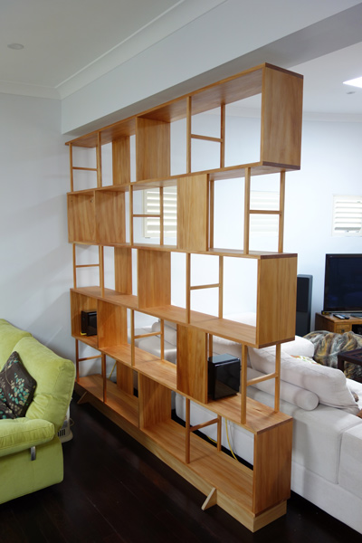 Mark S Bookcase Room Divider Sydney Nathaniel Grey