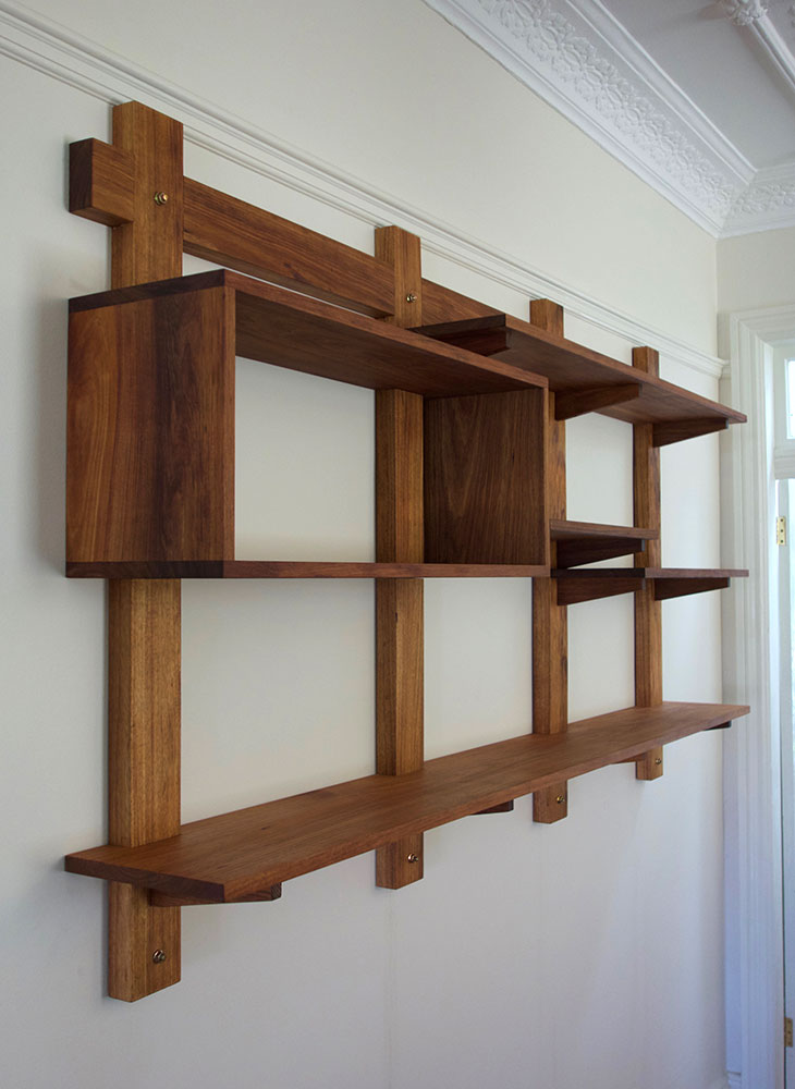 Wall-mounted shelves