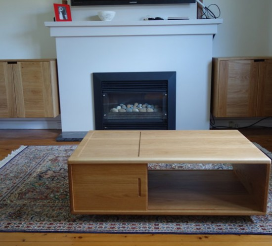 custom made American oak coffee table