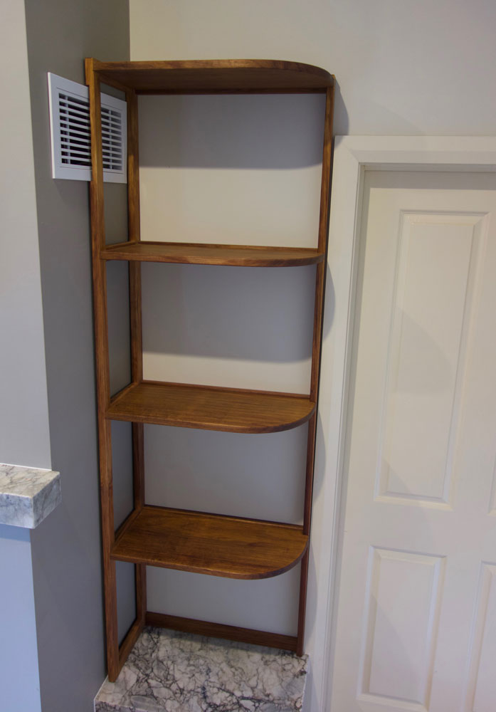 Tasmanian blackwood curved shelves