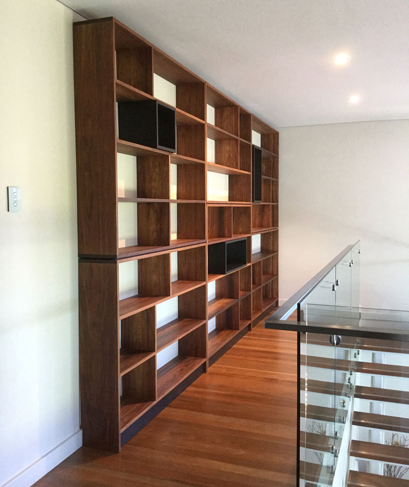 custom shelves