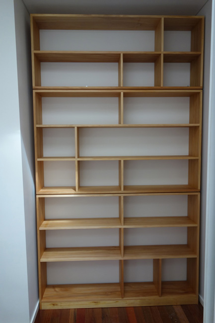 Custom-kauri-pine-bookcase