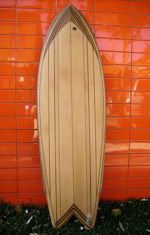 "5'7"" Fish in western red cedar – single to double concave"