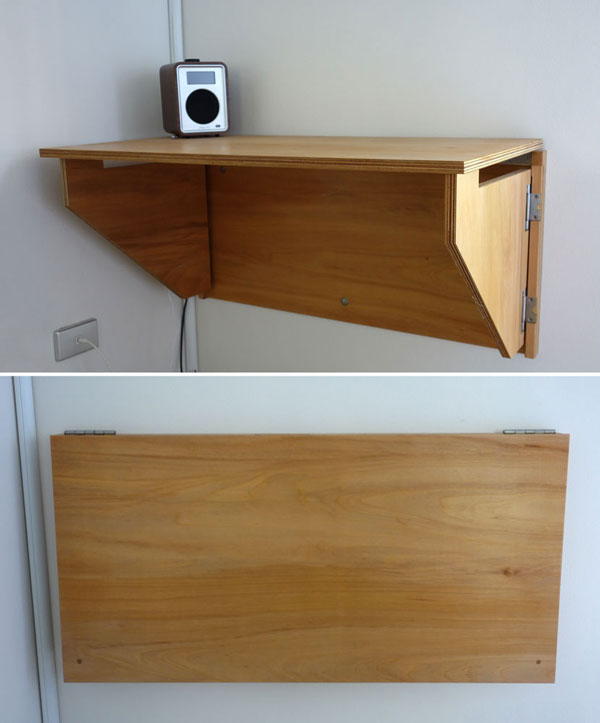 Jeffs Fold Down Desk Sydney Nathaniel Grey