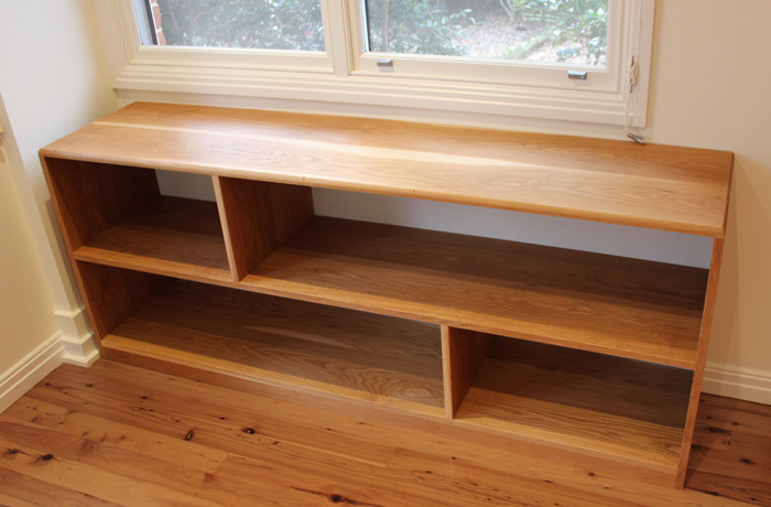 Custom made American oak shelves