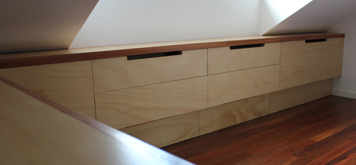 Built In Desk And Storage Sydney Nathaniel Grey