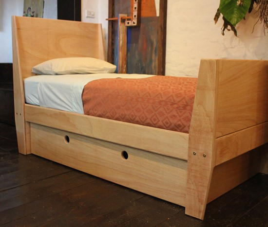 Custom child's bed & storage in plywood