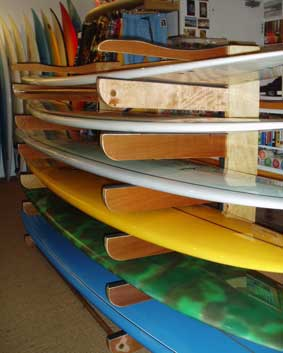 Custom made surf rack